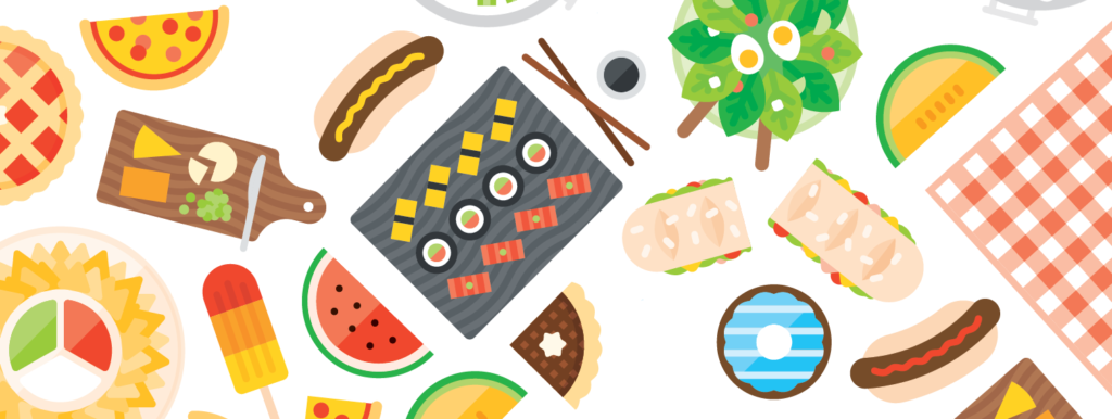 Image of picnic foods